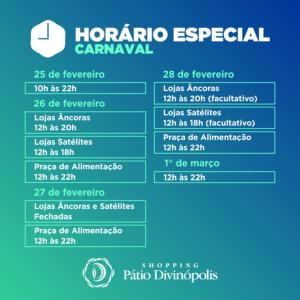 patio - HORARIO - carnaval 2